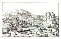 023 Grenzmaut zwischen Kärnten und Steiermark bei der Ruine Dürnstein - J.F.Kaiser Lithografirte Ansichten der Steiermark 1825.jpg