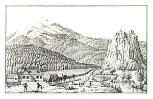 History of Styria - Historical view of the border between Styria and Carinthia, 1830