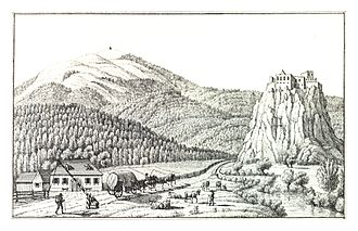 Styria - Historical view of the border between Styria and Carinthia, 1830