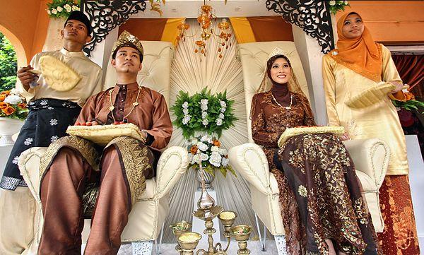 Muslimskt bröllop i Malaysia