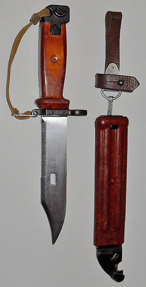 AKM - 6H4-type bayonet and scabbard