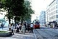 056R33270679 Franz Josefs Kai, BereichHaltestelle Schottenring, Typ E1 4474, Linie 25k 27.06.1979.jpg