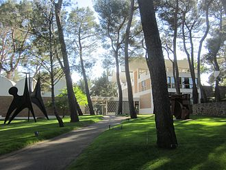 Fondation Maeght - View of the sculpture garden at The Fondation Maeght in Saint-Paul de Vence, France.