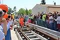 1ère soudure de rail de la ligne D pour la commune d'Eysines en 2018.jpg