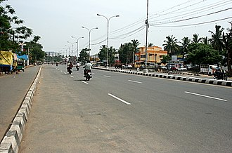 Velachery - Velachery main road between Vijayanagar bus stand and Gurunanak college