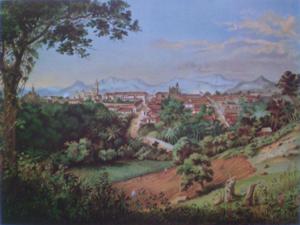 Córdoba, Veracruz - Córdoba desde el camino de Coscomatépec by Casimiro Castro, c. 1877