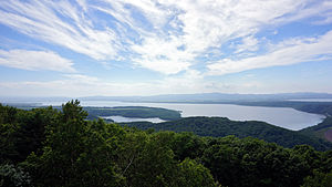 130713 Lake Abashiri view from Mount Tento in Abashiri Hokkaido Japan01n.jpg