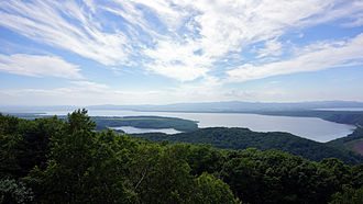 Lake Abashiri - A view from Mount Tento (July 2013)