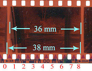 135 film - 135 frame and perforations
