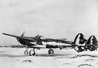 Naval Air Station Keflavik - Lockheed P-38F-5-LO Lightning 42-12596 of the 50th Fighter Squadron in Iceland, 1942