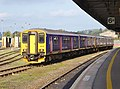150219 and 150 number 121 at Exeter St Davids (37758133941).jpg