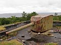 15 cm SK L45 coastal artillery gun at Nordarnøy, Norway - 1.jpg