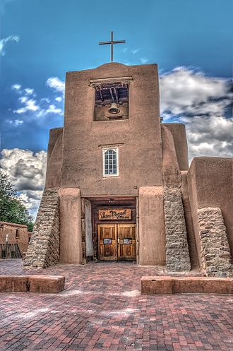 Spanish missions in New Mexico - San Miguel Mission in Santa Fe, New Mexico