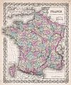 1855 Colton Map of France - Geographicus - France-colton-1855.jpg