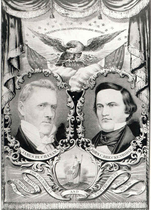 Inauguration of James Buchanan - Buchanan/Breckinridge campaign poster