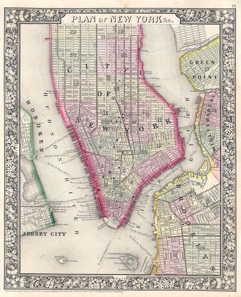 file 1864 mitchell map of new york city  new york