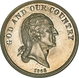 Washington nickel - Image: 1866 5C Five Cents, Judd 481, Pollock 571, Low R.7