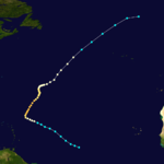 1884 Atlantic hurricane 2 track.png