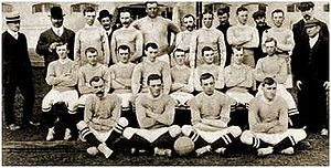 Chelsea's squad in 1905. (L to R) Back Row: Jo...