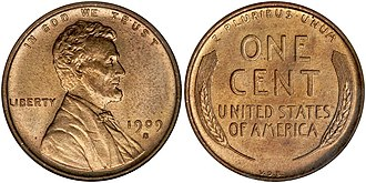 My two cents - A 1909 United States penny, worth 1 cent.