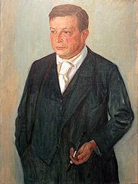 1912 von Kalckreuth Portrait Paul Cassirer anagoria.JPG