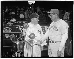 1937 Major League Baseball All-Star Game -  All-Star Game managers Joe McCarthy (left) and Bill Terry (right).
