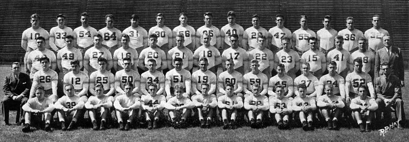 The 1937 undefeated national championship team 1937team Owl1938pg247.jpg