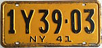 1941 New York license plate.JPG