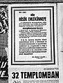 1944 május. Hősők emlékünnepe koszorúzás plakát, Budapest Fortepan 72716.jpg