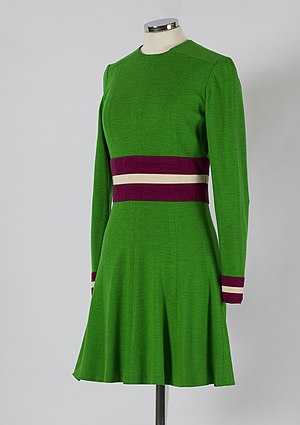 Mary Quant - Jersey minidress by Mary Quant, late 1960s.