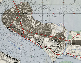 Lagos Island - Detailed map of Lagos Island