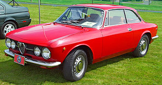 Alfa Romeo Arese Plant - Image: 1969 Alfa Romeo GT Veloce Red Front Angle st