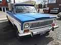1978 Jeep J-10 pickup truck, 131-inch wb, 6200 lbs GVW, 258 CID six automatic blue-white 01.jpg