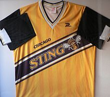 Chicago Sting 1984–86 Home Indoor Soccer Jersey.