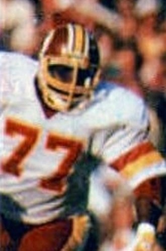 Darryl Grant - Grant playing for the Redskins in Super Bowl XVII
