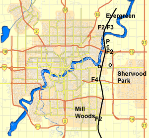 Edmonton tornado - Path of the tornado