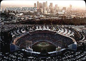 1987 Los Angeles Dodgers season - Image: 1987 Mother's Cookies Dodger Stadium