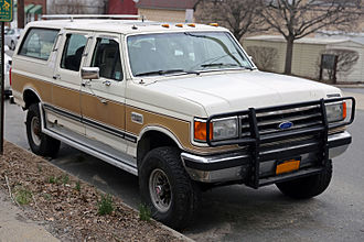 Ford Bronco - A 1989 Centurion Classic; a Ford F-350 crew cab mated with rear bodywork of a Bronco