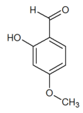 Chemical structure of 2-hydroxy-4-methoxybenzaldehyde