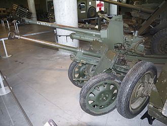 2.8 cm sPzB 41 - sPzB 41 (foreground) at the Canadian War Museum in Ottawa