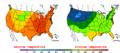 2002-09-10 Color Max-min Temperature Map NOAA.png