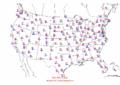 2002-10-10 Max-min Temperature Map NOAA.png