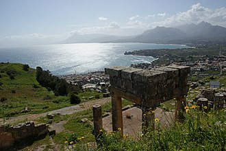 Soluntum - View of Solanto from the ruins of Soluntum