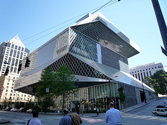 Seattle Public Library - Image: 2009 0604 19 Seattle Central Library