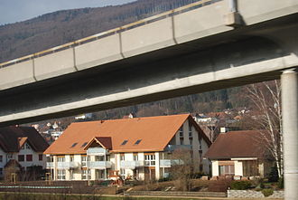 Pieterlen - Motorway bridge near the town