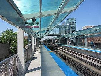 Morgan station - Image: 20120518 05 Opening Day @ Morgan L stop