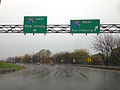 2014-11-01 12 24 14 Overhead signs along the ramps from U.S. Route 1 to the Pennsylvania Turnpike (I-276) in Bensalem, Pennsylvania.JPG