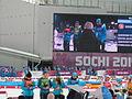 2014 WOG Biathlon Women Relay Flower Ceremony - Ukraine 04.JPG