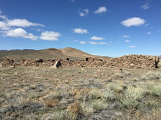 Cold Springs Station Site - Image: 2015 04 02 14 50 07 Stagecoach station ruins at the Cold Springs Stagecoach Station, Nevada