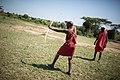 2015-06-15 Maasai guide shoots a traditional hunting bow and arrow during a walking safari, Ol Kinyei Conservancy in the Maasai Mara, Kenya 0035.jpg